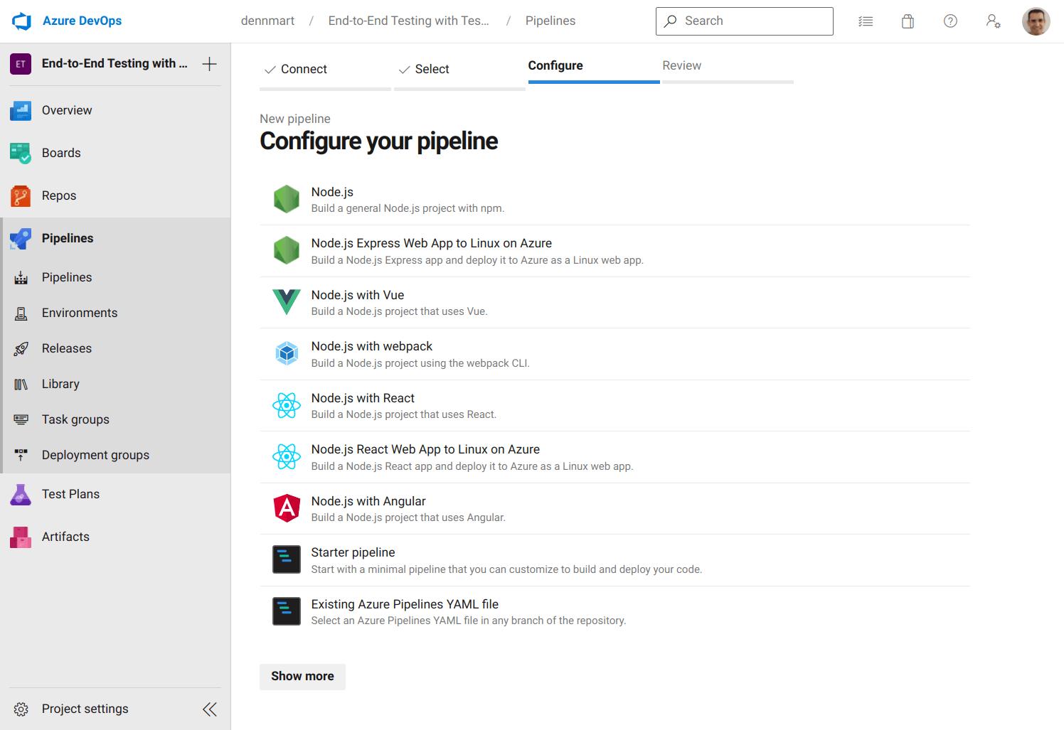 Azure DevOps - Configure Pipeline